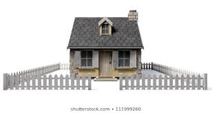 House With White Picket Fence Stock Illustrations Images Vectors Shutterstock