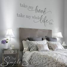 Take My Hand Take My Whole Life Too Romantic Elvis Presley Wall Decal Chic Bedroom Design Bedroom Decor Romantic Wall Decor