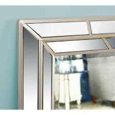 lens 38 in x 28 in wood framed mirror