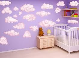 Pink Clouds Wall Decal Set