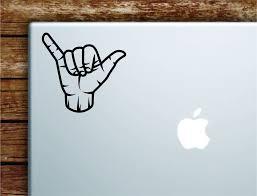 Shaka V2 Hang Loose Laptop Wall Decal Sticker Vinyl Art Quote Macbook Boop Decals