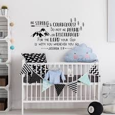 Joshua 1 9 Be Strong And Courageous Wall Decal Boys Wall Etsy In 2020 Boys Wall Decals Nursery Decor Boy Kids Hunting Decor