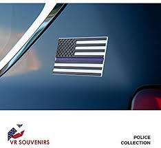Amazon Com Thin Blue Line Flag Decal 3d Premium Quality Thin Blue Line Stickers For Car 4 In Pack Support Police Flag Sticker 5 7 H 3 Inch Vinyl American Flag Decals