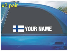 Your Name Rally Race Car Window Sticker Decal With Finland Etsy