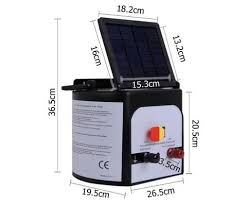 15km Solar Power Electric Fence Energiser Charger Jwg Gear