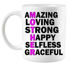 mother s day quote amazing loving strong happy coffee mug
