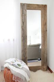 large rustic mirror wooden wall