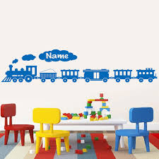 Personalized Large Train Wall Sticker Vinyl Home Decor Kids Room Playroom Cartoom Decals Custom Boys Name Murals Removable A370 Wall Stickers Aliexpress