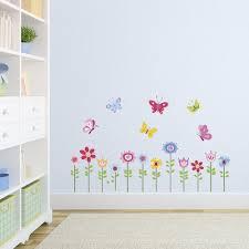 Amazon Com Bright Butterfly Garden Decorative Peel Stick Wall Art Sticker Decals Baby