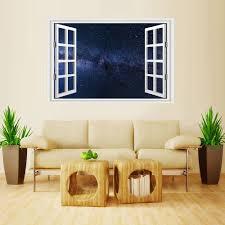 Mailingart Wall Sticker Home Decor False Faux Window Sticker Stars Sky Sale Price Reviews Gearbest