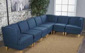 mid century modern tufted sectional