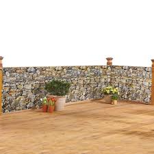 Realistic Faux Stone Privacy Fence Cover Rope Metal Eyelets Included Easy Installation To Any Fence Deck Hides Unsightly Views Weather Resistant Polyester Plastic 180 L X 34 H Walmart Com