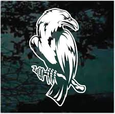Raven On A Branch Decals Stickers Decal Junky
