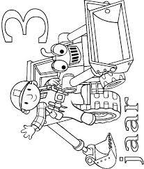 Kids N Fun Kleurplaat Bob De Bouwer Verjaardag Bob En Scoop 3 Jaar