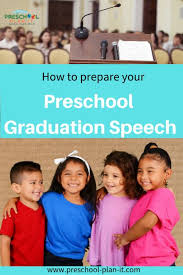 preschool graduation speech