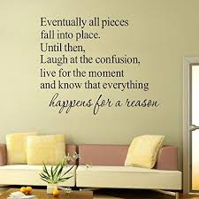 Mlm 1822 Eventually All Pieces Fall Into Place Quotes Diy Removable Wall Sticker Home Decor Wallp Kids Room Wall Stickers Wall Stickers Home Decor Wall Sticker