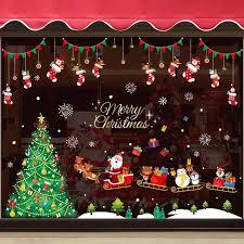 sticker mall window scene layout