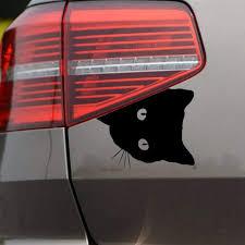 Cute Cat Face Peering Funny Car Decal Window Truck Auto Bumper Laptop Sticker