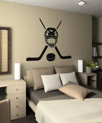 Hockey Mask Decal Wall Decals Boys Room Hockey Wall Decal Stickers Home Decor Sporting Goods Ice Roller Hockey Sporting Goods