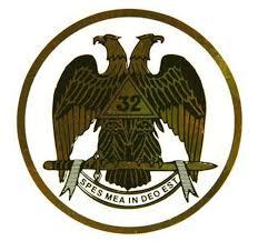 Round Masonic Car Sticker Decal Scottish Rite 32nd Degree Masonic Car Emblem With Eagle Logo Thin Sticker With Back Adhesive Mason Zone