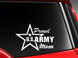 Proud Mom Us Army Vinyl Car Decal Sticker 7 W With Etsy