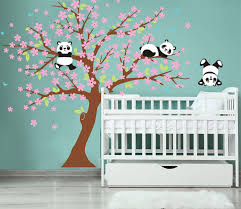 Childrens Room Nursery Removable Wall Stickers Murals White And Pink Ufengke Large Tree Cute Owls Wall Decals Wall Stickers Murals