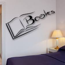 Books Wall Decal Reading Room Library Science School University Bookworm Ig2521 Ebay Library Wall Book Wall Reading Room