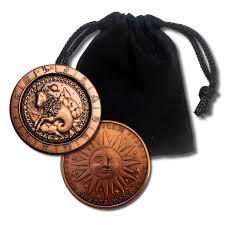 1 oz pure solid copper zodiac round