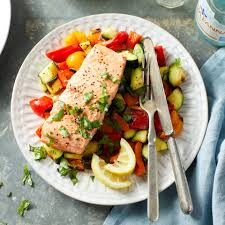 Simple Grilled Salmon & Vegetables ...