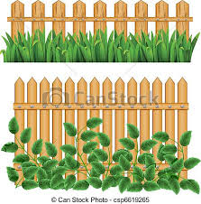 Border And Fence Border With Fence And Grass Green Can Be Repeated And Scaled In Any Size