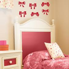 Bow Wall Decals Set Of 6 Girl Wall Decals Wall Decal World