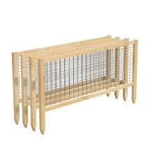 Greenes Fence Critterguard 45 In L Cedar Garden Fence 4 Pack Rccg4pk The Home Depot