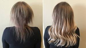 the shocking hair extensions before and