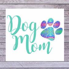 Dog Mom Car Decal Dog Mom Sticker Dog Mom Cup Decal Dog Etsy Dog Mom Car Monogram Decal Car Decals