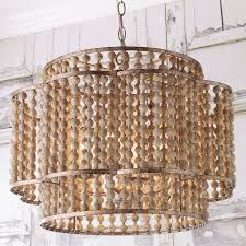 rustic beaded layered petal chandelier