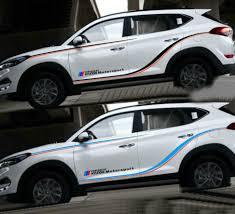 Graphics Vinyl Car Sticker Decal Fit For Hyundai Tucson Waist Line Stripes 2 Pcs Ebay