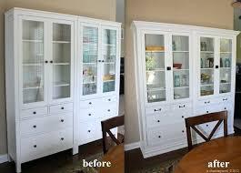 ikea hemnes glass door cabinet