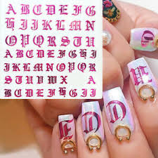 Letter 3d Nail Art Sticker Nail Decal Black Words Character Nail Decor Stickerss Ebay