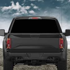 Custom Truck Rear Window 50 50 Perforated Vinyl Decal V2 Roe Graphics And Apparel
