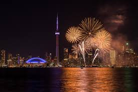 Canada Day fireworks From the island : toronto