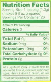 qoo10 lipton green tea bag decaf