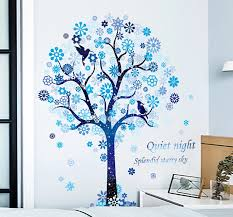 6 Large Beautiful Blue Constellation Wall Stickers For Kids Room Girls Room Bedroom Decor Flower Tree Wall Decal Dream 60 90cm Wall Stickers Aliexpress