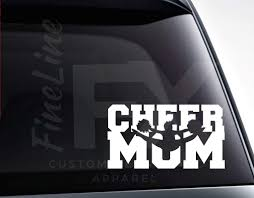 Cheer Mom Cheerleader Mom Die Cut Vinyl Decal Sticker Car Decal Ca