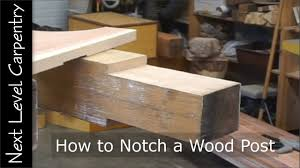 How To Notch A Wood Post Youtube