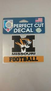 Missouri Tigers 4 X4 Football Perfect Cut Decal By Wincraft Mo Sports Authentics Apparel Gifts