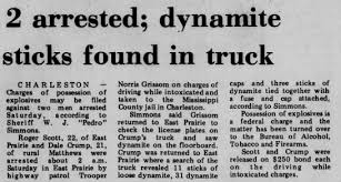 Dale Crump - 2 arrested; dynamite sticks found in car - Newspapers.com