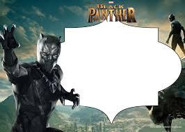 Free Printable Black Panther Invitation Templates Fiesta De Las