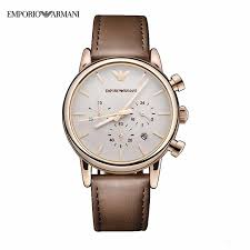 ar2074 brown leather strap men s watch