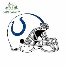 Earlfamily 13cm X 9 9cm For Indianapolis Colts Helmet Vinyl Decal Sticker Car Truck Pinup Scratch Proof Sticker Suitable For Van On Aliexpress