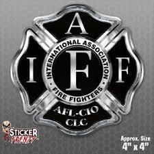 Firefighter Iaff Black Cross Sticker Vinyl Decal Window Fire Dept Fs2059 Ebay